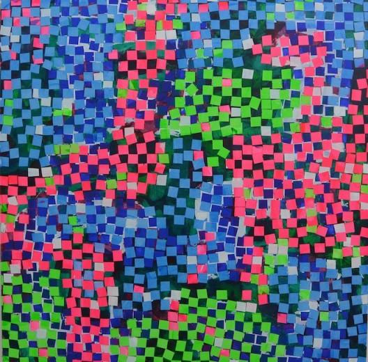 Heimo Zobernig, Untitled, acrylic on canvas, 200 x 200 cm, 2015.