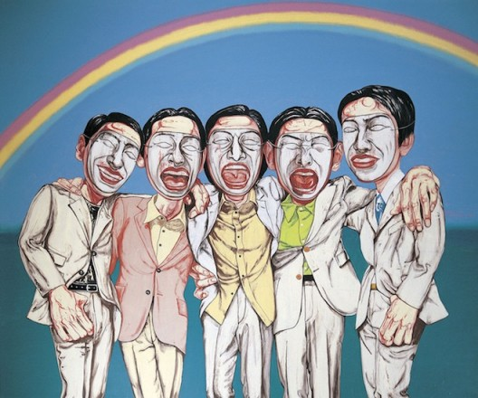 """Zeng Fanzhi (born 1964, Wuhan), """"Rainbow"""", 1997"""
