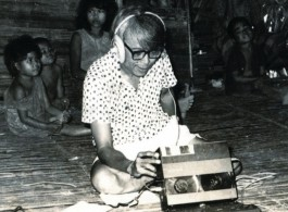 Image: José Maceda, from the CD cover of Archival Sound Series: José Maceda, Field Recordings in Philippines, 1953–1972.