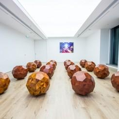 "Ai Weiwei ""Wooden Balls"" at Tang Contemporary, Hong Kong"