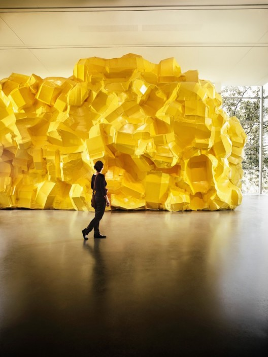 Richard Maloy Starkwhite Yellow Structure (2016) Courtesy the artist and the gallery