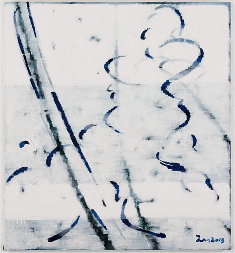 """王俊 ,《无题No.5》,布面丙烯,120×110cm,2015 Wang Jun, """"Untitled No.5"""", Acrylic on canvas,120×110cm, 2015"""