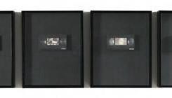 "张晓,《录像厅》,即显胶片,录像带,MP3播放器,53×43×7cm,8个,2015,版本:1/1 Zhang Xiao, ""Video Hall"", Instant film on VHS tape, MP3 player, 53×43×7 cm, set of 8, 2015, Ed:1/1"