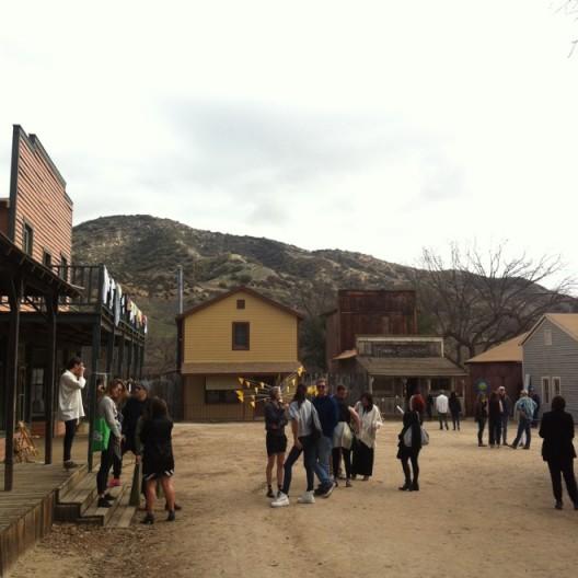 A view of Paramount Ranch art fair.