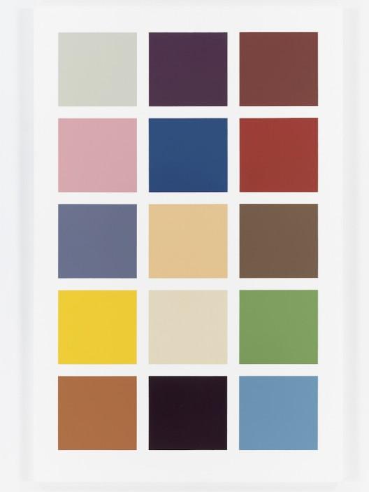Gerhard Richter, Fünfzehn Farben (Fifteen Colours), 1966/1996. Enamel on canvas. 78 x 51 1/8 inches (200 x 130 cm). © Gerhard Richter, 2016.