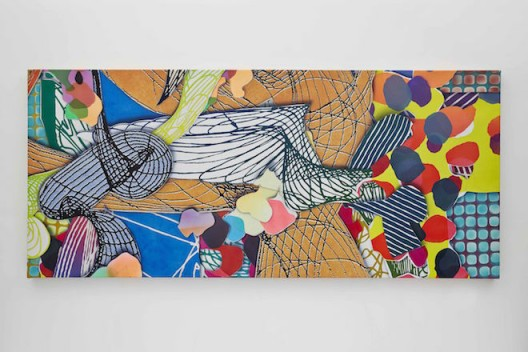 Frank Stella, Study for Princess of Wales Theater, Toronto, III, 1992. Mixed medium on canvas. 137 x 60 x 2 1/2 inches (348 x 152.4 x 6.4 cm). © Frank Stella. ARS, NY and DACS, London 2016.