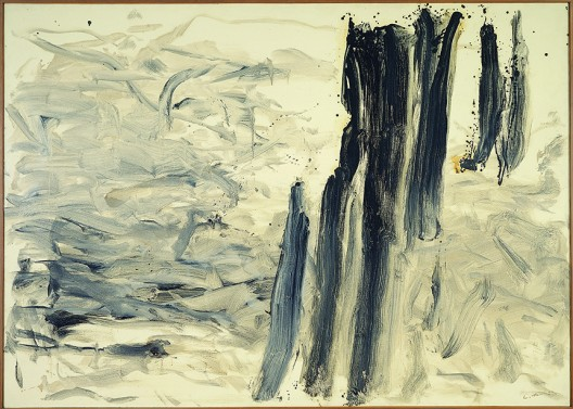 Lee Ufan, 1990, With Wind, Oil on canvas, 227®™+161cm, Gana Art lores