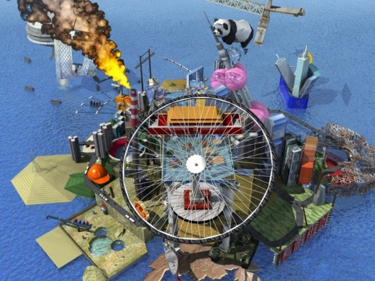 "Cao Fei, ""Live in RMB City"", digital animation still, 2009 (©Cao Fei; courtesy the artist and Cao Fei Studio)曹斐,《住在人民城寨》,数字动画影像截图,2009(版权归曹斐所有;图片由艺术家和曹斐工作室提供)"