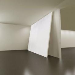 無題,2016,畫布、畫框、墻漆,5x6.9米(作品效果圖)