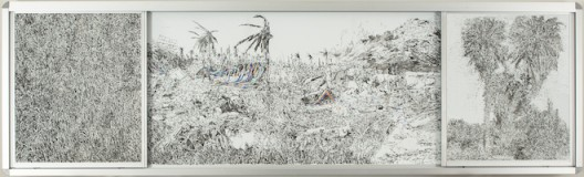 彭奕轩Peng-Yihsuan_鬼影Ghosting_2015_白板笔、白板Marker-whiteboard_120x400x11cm