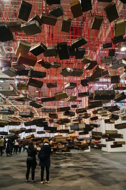 Chiharu Shiota at Galerie Daniel Templon, Art Basel Unlimited