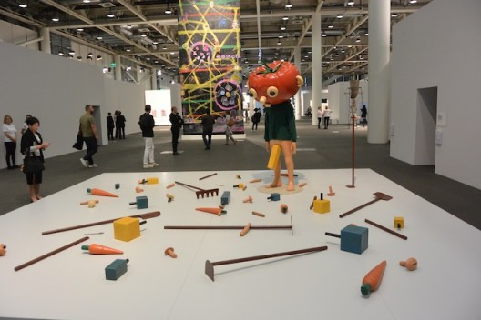 We need to talk about this –Paul McCarthy's Tomato Head (Green) (1994) in the Unlimited section of Art Basel. Image: Courtesy Hauser & Wirth – sold for USD4.75 million.