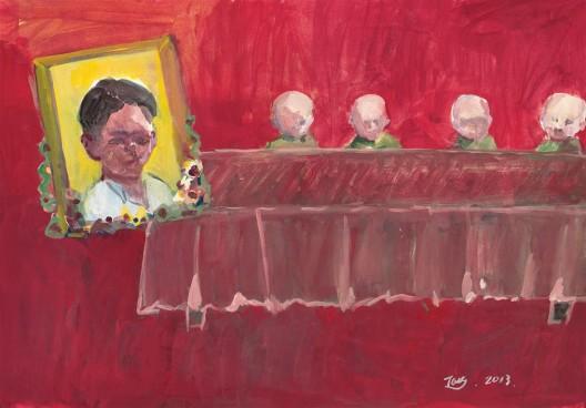 "唐志冈,《越南》,布面油画,2014(图片由艺术家和汉雅轩画廊提供)/ Tang Zhigang, ""Vietnam"", oil on canvas, 2014 (courtesy the artist and Hanart TZ Gallery)"