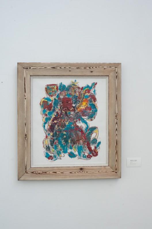 《杨家埠年画 - 神荼郁垒》  70×60cm  油画2016  于鹏
