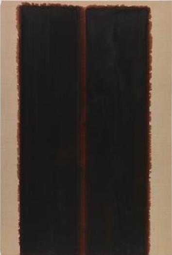 Yun Hyong-keun, Burnt Umber & Ultramarine Blue, 1993, Oil on linen, 193.8 x 130.4 cm (76 1/4 x 51 3/8 in.). Courtesy of Yun Seong-ryeol, PKM Gallery, Seoul and Simon Lee Gallery, London.尹亨根,《焦赭和深蓝》,1993,布面油画,193.8 x 130.4 cm,图片由Yun Seong-ryeol, 首尔PKM画廊和西蒙李画廊伦敦提供