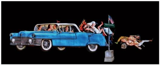 Entang Wiharso, Double Story, 410 x 130 cm, 2016