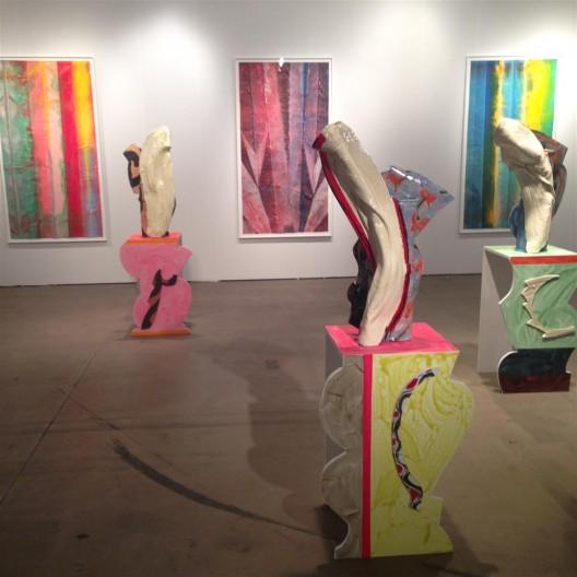 David Kordansky Gallery with works by Betty Woodman