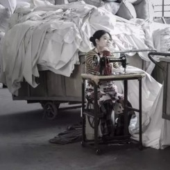 """Janis Jeffries, """"Weaving&We: Hangzhou Textile Factories"""". photograph, 2013. Image courtesy of the artist"""