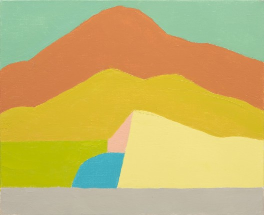Etel Adnan, untitled, oil on canvas, 38 x 46 cm. Gallerie Lelong. Photo courtesy Contemporary Istanbul