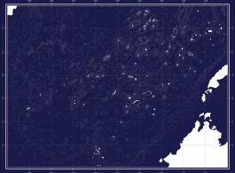 MAP OFFICE, Liquid Land | Solid Sea Chart 流动的土地与固态的海洋–图表, 2016 C-print on Hahnemuhle Art Paper 哈内姆勒纸上数码打印 150 x 120 cm (59 x 78 3:4 in.)