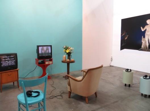 installation shot presentation Lynn Hershman Leeson and Eli Cortiñas at Artissima 2016, booth of Waldburger Wouters, Brussels