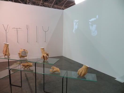 installation shot Pauline M'Barek at Galerie Rehbein (Cologne and Brussels), Artissima 2016