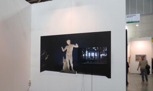installation shot Eli Cortiñas at Artissima 2016, booth of Waldburger Wouters, Brussels