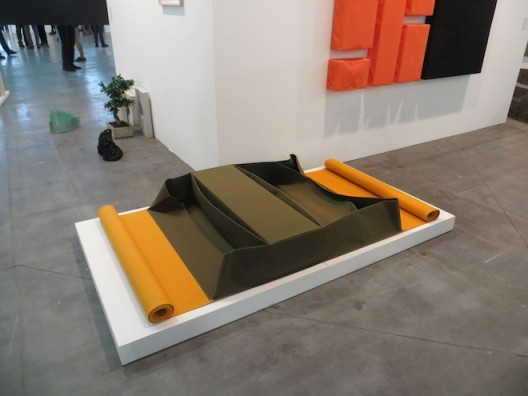 installation shot Franz Erhard Walther at Jocelyn Wolff (Paris), Artissima 2016