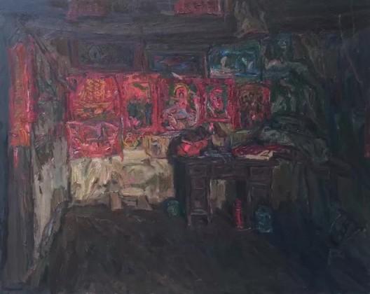 堂屋系类, 布面油画, 120 X 150 cm, 2016
