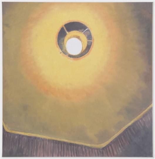 """吕克·图伊曼斯,《灯泡》,布面油画,114.3 × 111.4 cm,2010(图片由伦敦/纽约大卫·茨维尔纳画廊提供)/ Luc Tuymans, """"Light Bulb"""", oil on canvas, 114.3 × 111.4 cm, 2010. Courtesy David Zwirner, New York/London."""
