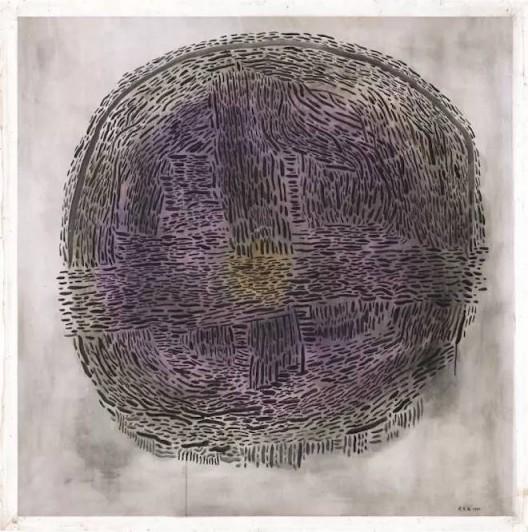 《抽象 1985-5》(1985),余友涵,丙烯、布,135 × 135cm,图片来源于艺术家