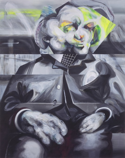 大象   Elephant  2016 布面丙烯、油漆、马克笔、粉笔、蜡笔 acrylic, varnish, marker, crayon, oil crayon on canvas 190×150cm