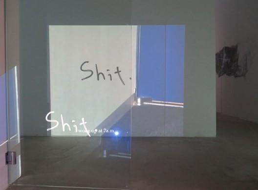 """李杰 """"过去几天,我一直在想一些事情。"""",展览现场 (感谢艾可画廊提供配图) / Lee Kit, """"I've been doing some thinking over these last few days"""", exhibition view. Courtesy AIike Dellarco."""