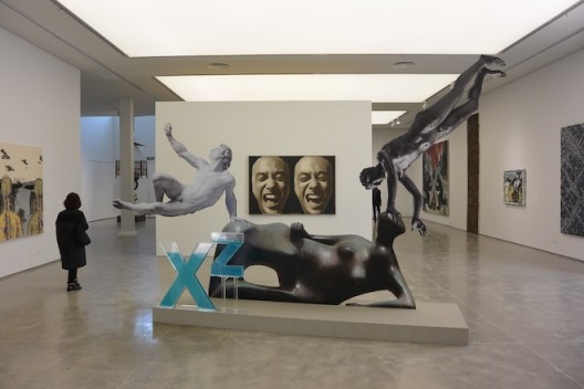 """(foreground) XU ZHEN - PRODUCED BY MADEIN COMPANY Xu Zhen - produced by MadeIn Company, """" Eternity, Reclining Woman: Elbow, Othryades the Dying Spartan, Adorant"""", 2016, 342.4*504.6*100cm (135"""