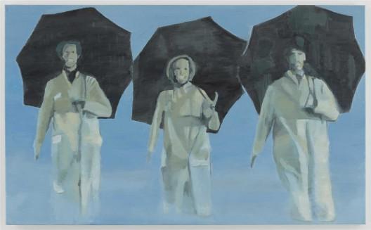 "吕克·图伊曼斯,《雨中曲》,布面油画,90.2 × 148 cm,1996(图片由伦敦/纽约大卫·茨维尔纳画廊提供)/ Luc Tuymans, ""Singing in the Rain"", oil on canvas, 90.2 × 148 cm, 1996. Courtesy David Zwirner, New York/London."