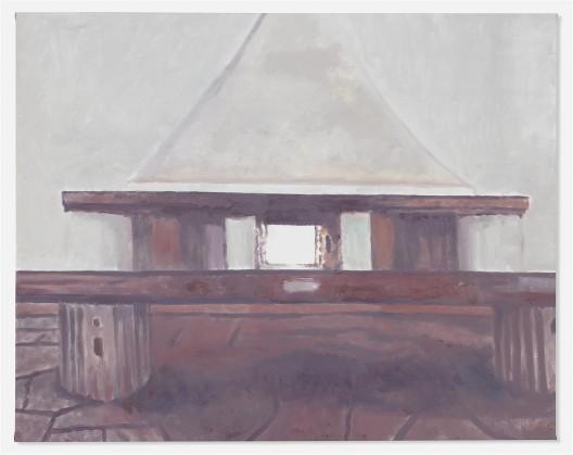 """吕克·图伊曼斯,《蔑视》,布面油画,112.4 × 142.6 cm,2015(图片由伦敦/纽约大卫·茨维尔纳画廊提供)/ Luc Tuymans, """"Le Mépris"""", oil on canvas, 112.4 × 142.6 cm, 2015. Courtesy David Zwirner, New York/London.."""