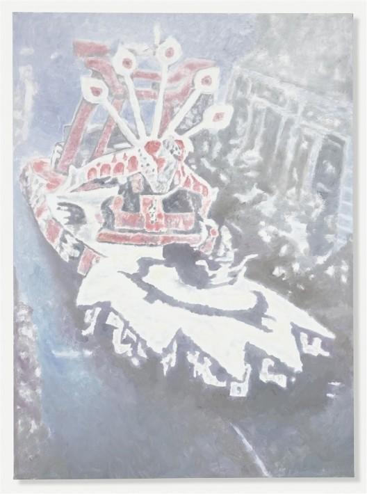 """吕克·图伊曼斯,《科尔索I》,布面油画,250.8 × 184.5 cm,2015(图片由伦敦/纽约大卫·茨维尔纳画廊提供)/ Luc Tuymans, """"Corso I"""", oil on canvas, 250.8 × 184.5 cm, 2015. Courtesy David Zwirner, New York/London."""