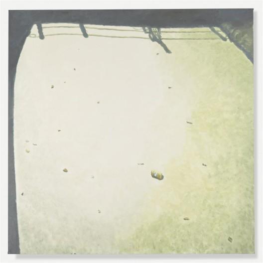 """吕克·图伊曼斯,《浑浊之水I》,布面油画,235.5 × 235.5 cm,2015(图片由伦敦/纽约大卫·茨维尔 纳画廊提供)/ Luc Tuymans, """"Murky Water I"""", oil on canvas, 235.5 × 235.5 cm, 2015. Courtesy David Zwirner, New York/London."""
