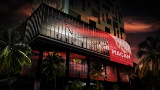 Preliminary rendering of the exterior of Museum MACAN, by MET Studio Design Ltd.