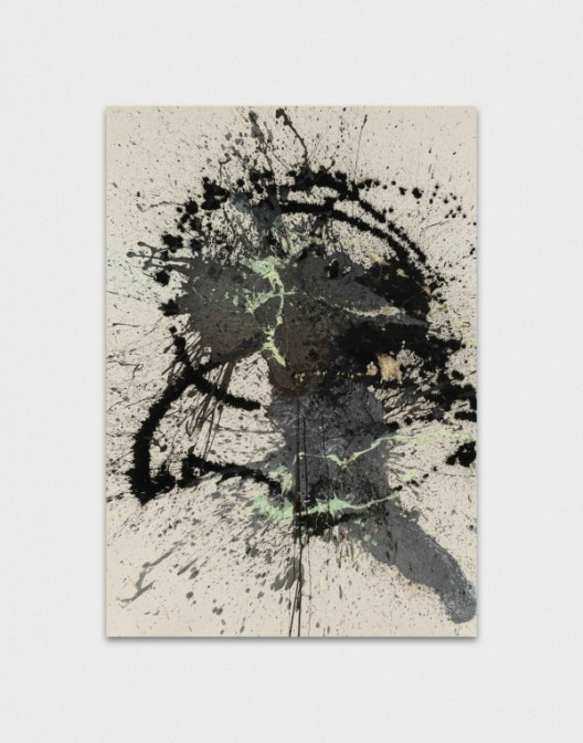 John M Armleder, While, 2016 - Mixed media on canvas - 215 x 150 x 6 cm - 84 5/8 x 59 x 2 3/8 inches - Courtesy of the Artist and Almine Rech Gallery / © John M Armleder - Photo: Annik Wetter