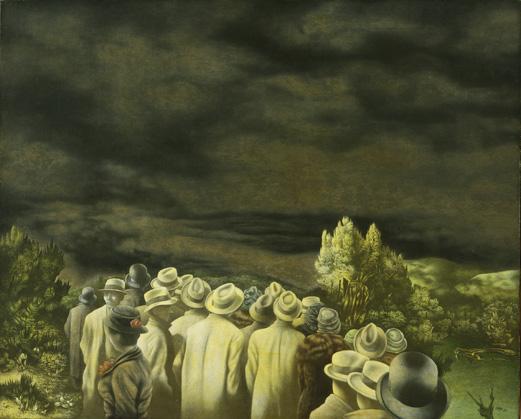 Richard Oelze, Erwartung (Expectation), 1935-1936, Oil on canvas, 32 x 39 1/2 inches (81.5 x 100.5 cm),The Museum of Modern Art, New York. Purchase, 1940理查德·厄尔策,《期盼》,1935-1936,布面油画,81.5 x 100.5 cm,纽约现代艺术博物馆馆藏