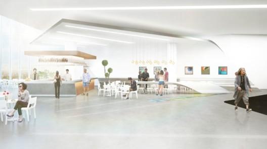 Preliminary rendering of Museum MACAN's café/restaurant and public area; by MET Studio Design Ltd.