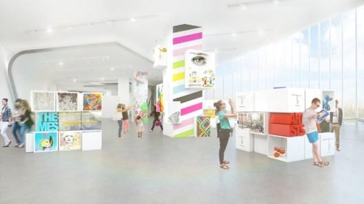 Preliminary rendering of Museum MACAN's education area; by MET Studio Design Ltd.