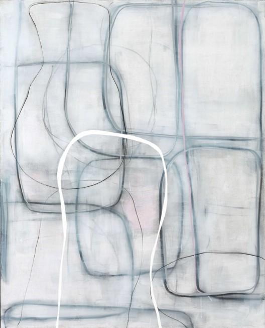 广州趴刻,周力,《线:粉色 之一》- Lines:pink No.1,综合材料-Mixed media on canvas,130cmx160cm,2016