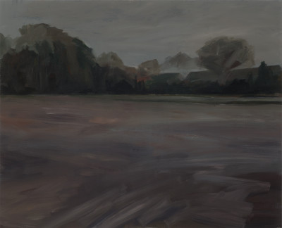 George Shaw Study for Landscape with Fuck All, 2015