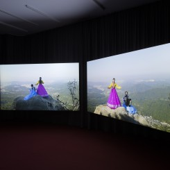 """Im Heung-soon, """"Bukhansan/Bukhangang"""", 2015-2016, HD, 2-channel video, 5.1 Ch sound, duration: 28:12 min, edition of 5 (image courtesy the artist and Esther Schipper)"""