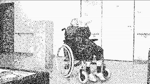 """亚历山大.席罗,《一篇_自传》,16:9动画,黑白、无声,片长9分19秒,循环播放,2016 Alexander SCHELLOW, """"A_biography"""", animation: 16:9, b/w, silent, 9 min 19 sec, loop, 2016"""