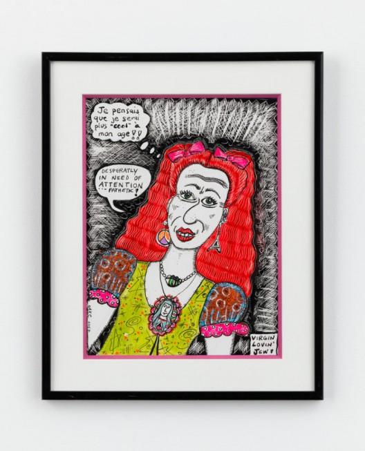 Aline Kominsky-Crumb, Virgin Lovin Jew!, 2007, Mixed media on paper, 12 1/4 x 9 3/4 x 1/2 inches (31.1 x 24.8 x 1.3 cm)