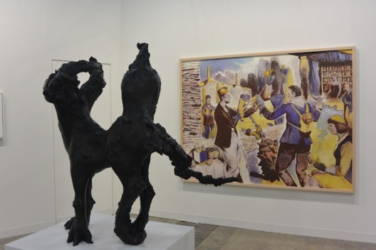 Stella Hamberg and Neo Rauch at Eigen+art (image Ran Dian magazine)