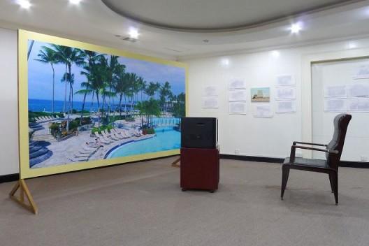 "朱建林,《成就》,装置,《好景不常在》展览现场,2016(鸣谢:艺术家和比利安娜)/  Zhu Jianlin, ""Achievement Project"",Site Specifc installation,""You won't be young forever"" exhibition view,October 2016"